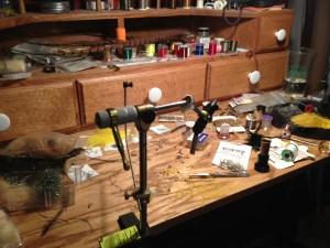 Messy Tying Desk